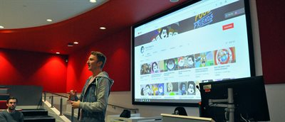 YouTube star visits Solent