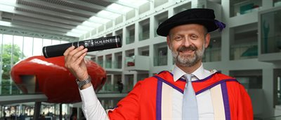 Oscar-winning editor of Gravity awarded honorary degree