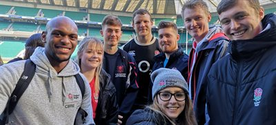 Sports students study England team ahead of Six Nations
