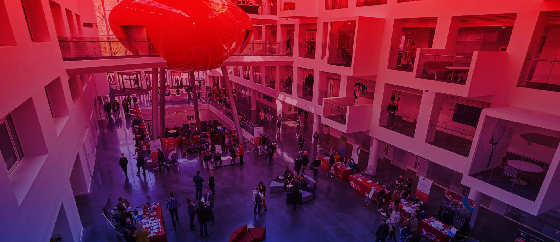 The Spark atrium and The Pod at Solent University