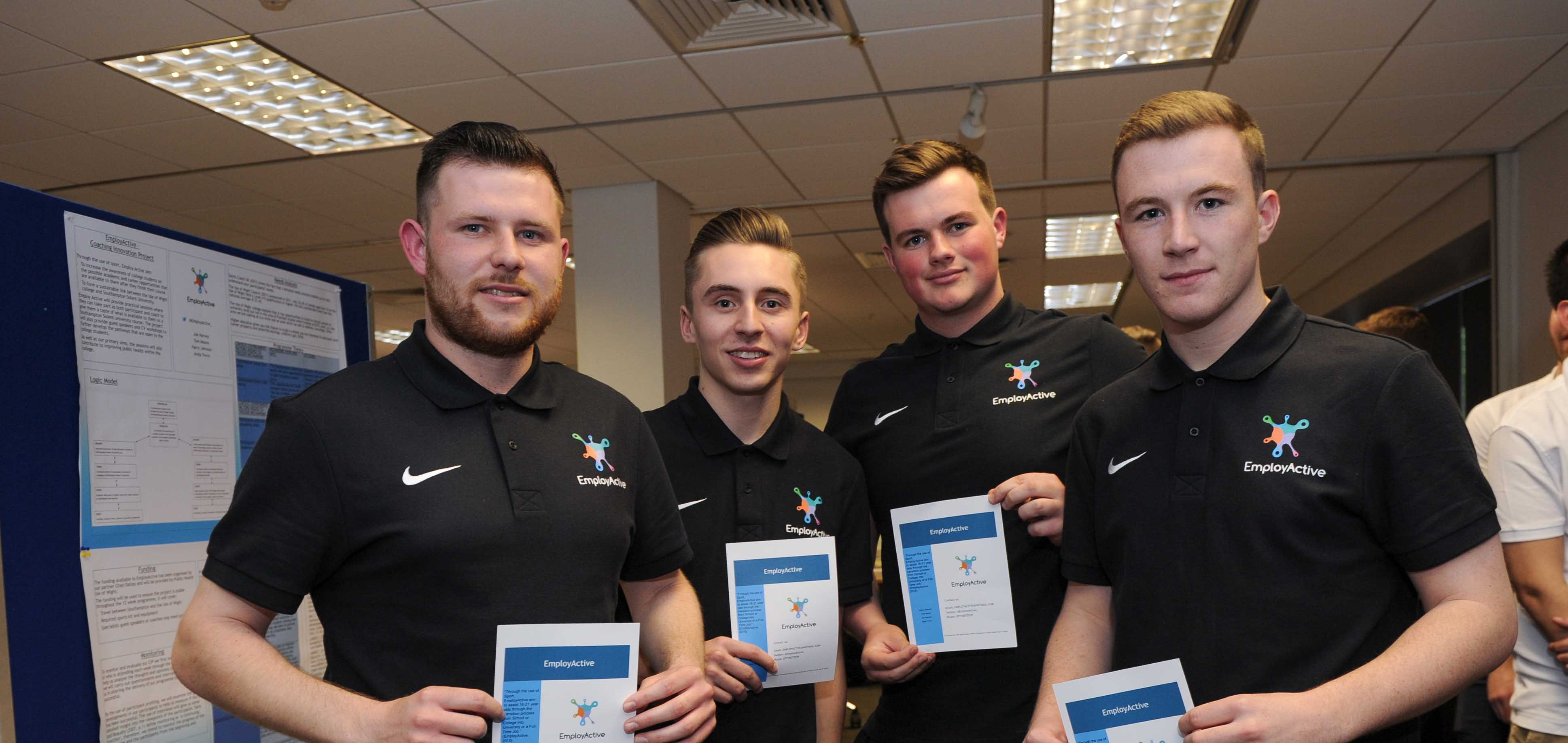 The Employ Active team: Andrew Trevis, Harry Johnson, Joe Harvey and Thomas Moore