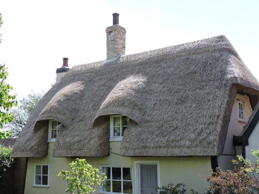 Picture shows a cottage with a thatched roof