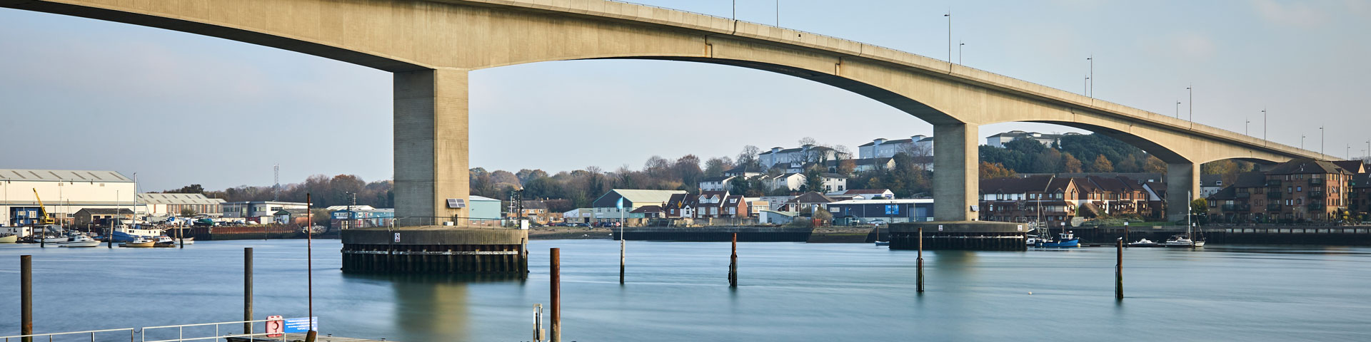 A view of the Itchen Bridge in Southampton