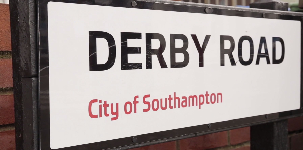 Derby Road street sign