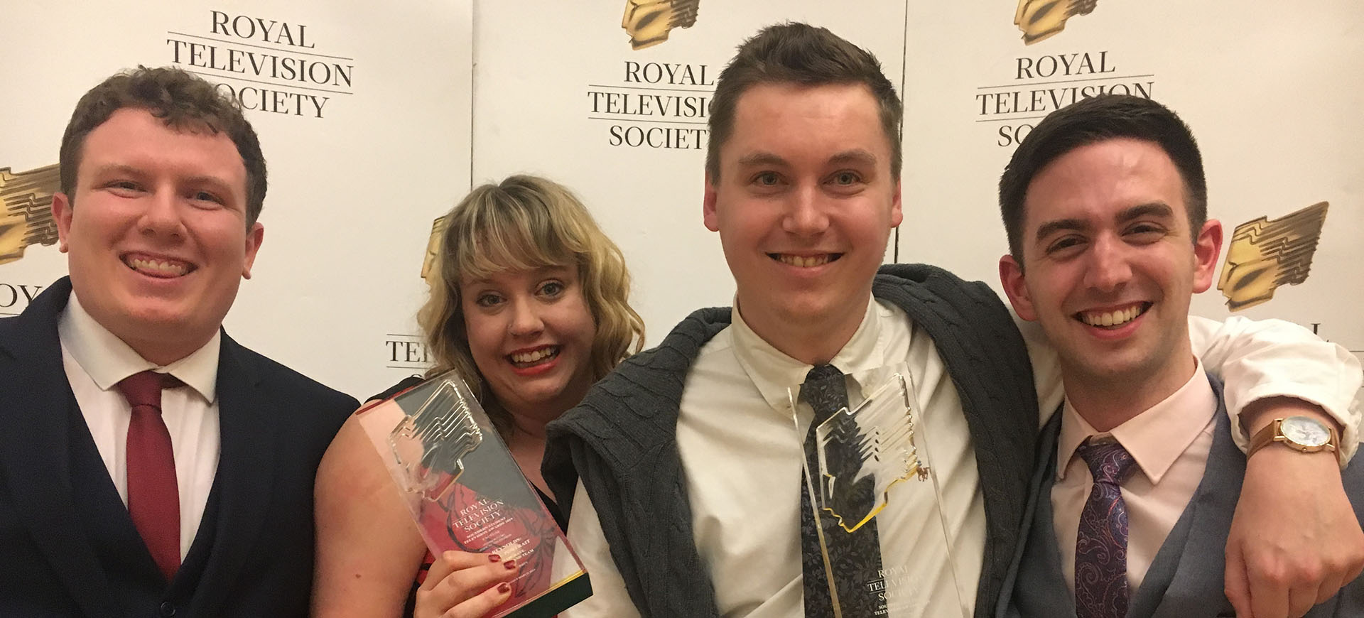 Students at the Royal Television Society (RTS) awards