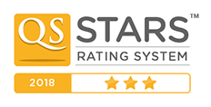 QS 3 Star rating logo