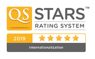 QS Stars University Ratings - 5 star badge for internationalisation