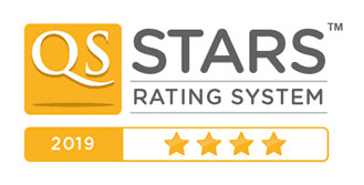 QS Stars University Ratings - 4 star badge overall
