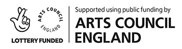 Supported by Arts Council England logo
