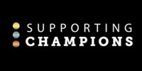 Supporting Champions logo on a black background