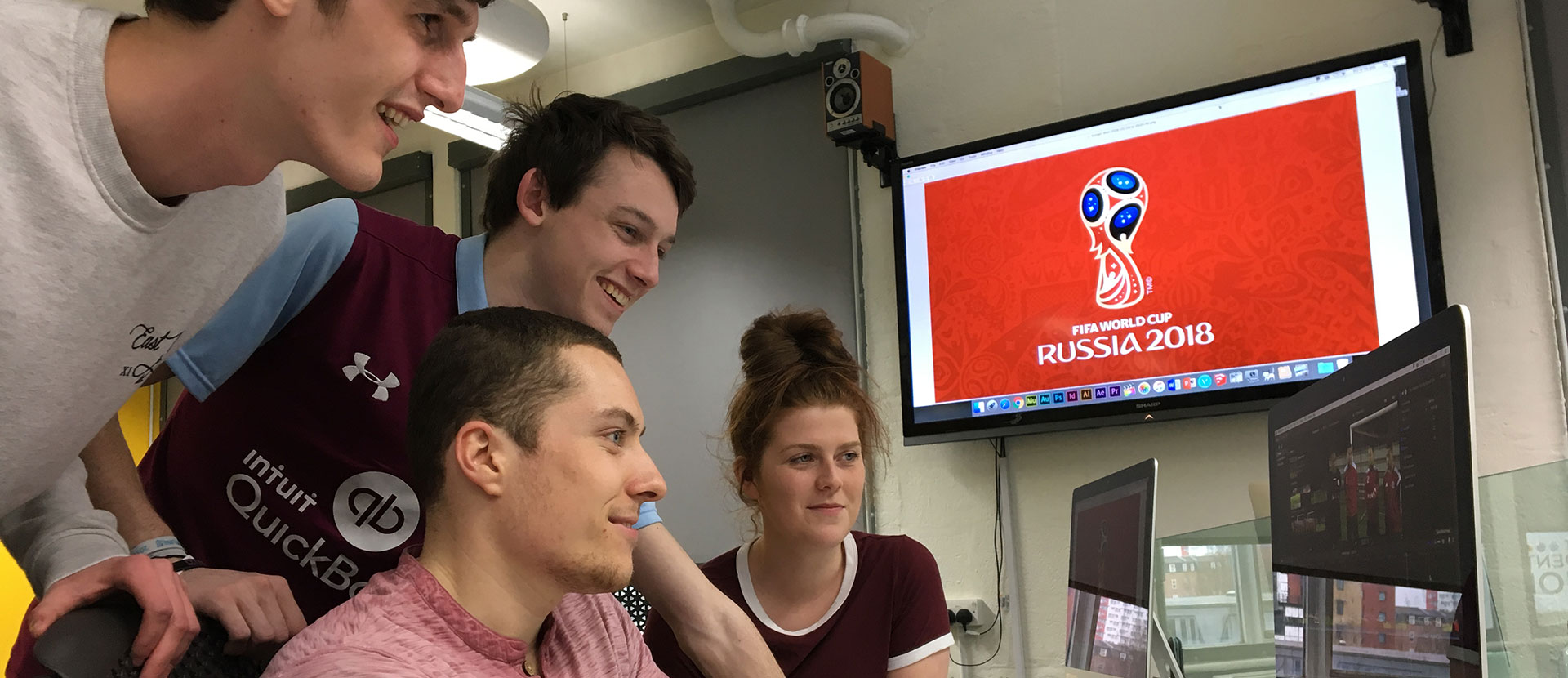Students at the Russia World Cup