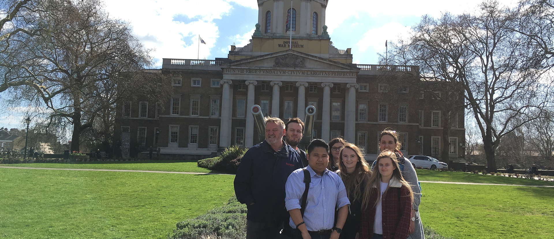 Criminology students outside the Imperial War Museum