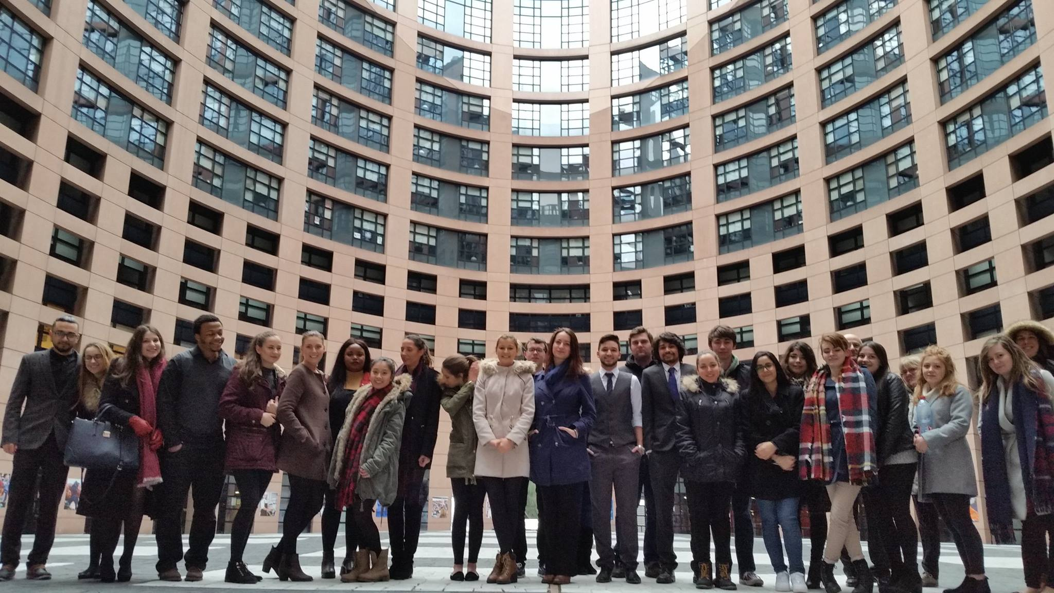 Solent law students visit the European Parliament during our European trip.