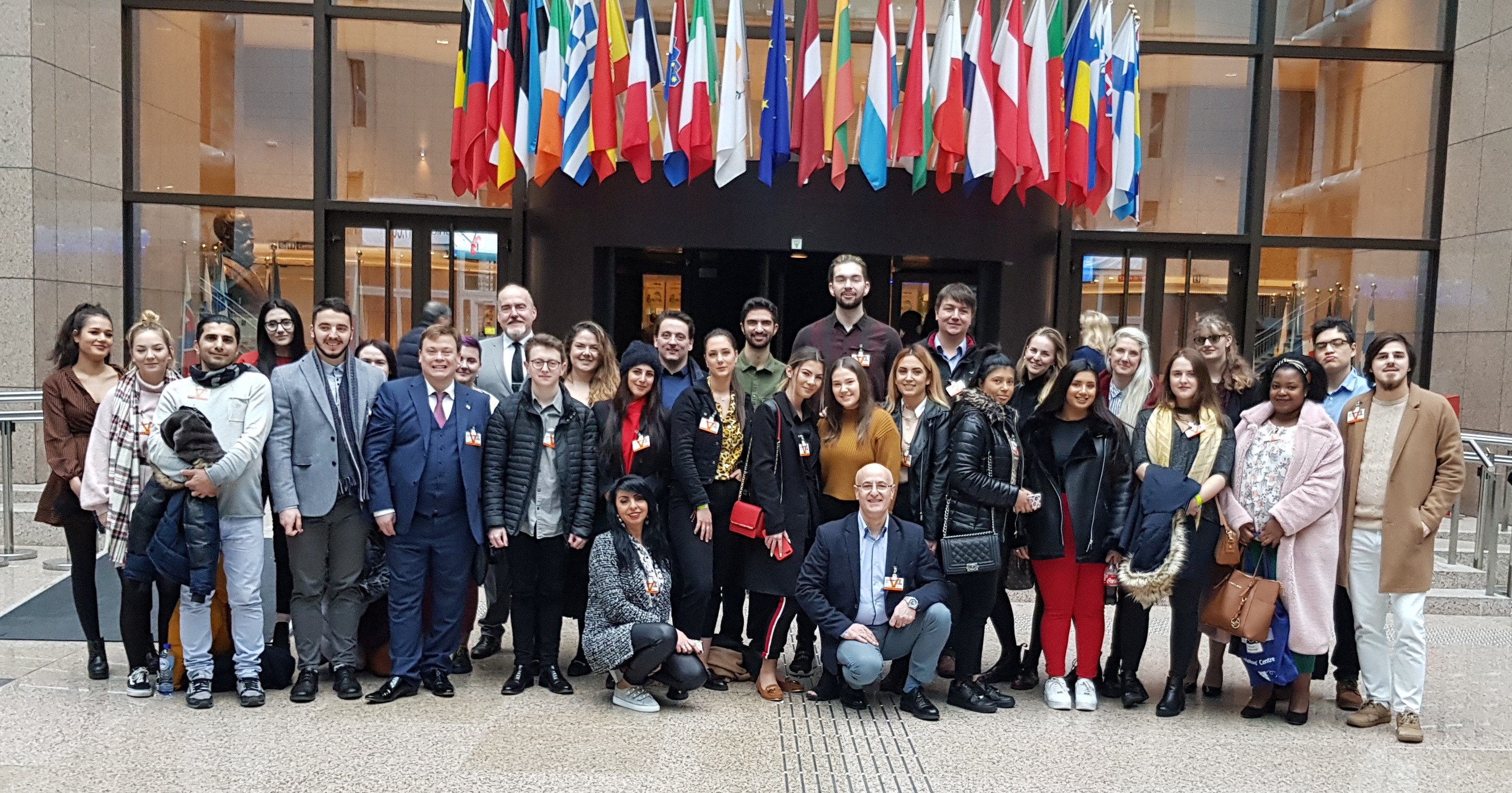 Solent law students visit the Council of Ministers during our European trip.