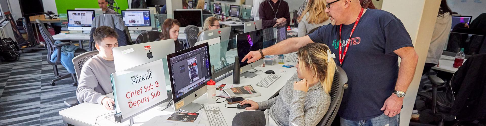 News day for journalism students at Solent University