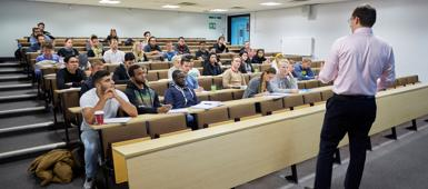 MSc International Maritime Business students in a lecture theatre